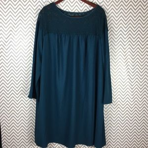 /Ava & Viv/ smock dress with bell sleeves